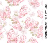 seamless floral pattern with... | Shutterstock .eps vector #415494280