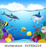 summer background with sea... | Shutterstock .eps vector #415506214