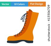 flat design icon of hiking boot ...