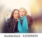 two women friends  girlfriends... | Shutterstock . vector #415509694