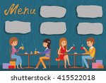 people are sitting in a cafe.... | Shutterstock .eps vector #415522018