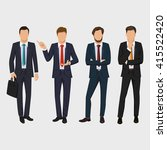 businessman set. handsome... | Shutterstock .eps vector #415522420