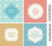 set of vintage frames in... | Shutterstock .eps vector #415525810