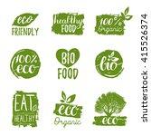 vector eco  organic  bio logos... | Shutterstock .eps vector #415526374