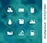 vector oil industry icons set. | Shutterstock .eps vector #415527364