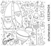 Garden Set Doodles Elements....