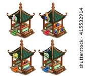 Gazebo In Oriental Style And...