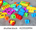 kids toy fully on sofa at home | Shutterstock . vector #415533994