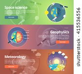 science of earth. exploration... | Shutterstock .eps vector #415536556