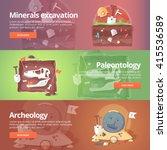 science of life. minerals... | Shutterstock .eps vector #415536589