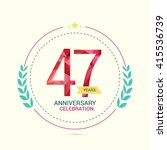 47 years anniversary with low... | Shutterstock .eps vector #415536739