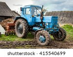 Old Blue Belarus Tractor On A...