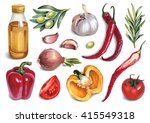watercolor illustrations of... | Shutterstock . vector #415549318