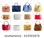 group of color leather women... | Shutterstock . vector #415553374