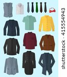 male jackets  shirts and ties... | Shutterstock .eps vector #415554943