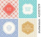 set of vintage frames in red ...   Shutterstock .eps vector #415557379