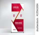 banner roll up design  business ... | Shutterstock .eps vector #415561834