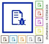 set of color square framed bug...