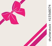 card with satin pink bow and... | Shutterstock .eps vector #415568074