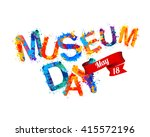 international museum day. may 18 | Shutterstock .eps vector #415572196