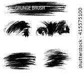vector set of grunge brush... | Shutterstock .eps vector #415575100