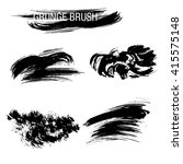 vector set of grunge brush... | Shutterstock .eps vector #415575148