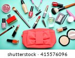 decorative makeup cosmetics and ... | Shutterstock . vector #415576096