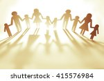family paper chain cutout... | Shutterstock . vector #415576984