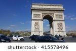paris  france   april 25 ... | Shutterstock . vector #415578496