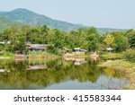 country view in thai  thailand. | Shutterstock . vector #415583344