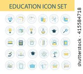 education icon set. vector... | Shutterstock .eps vector #415584718