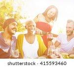 friends friendship outdoor... | Shutterstock . vector #415593460