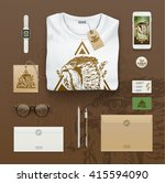 corporate identity template.... | Shutterstock .eps vector #415594090