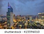 wisma 46 is a 262 m tall...   Shutterstock . vector #415596010