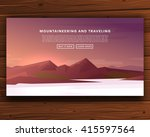 mountaineering and traveling... | Shutterstock .eps vector #415597564