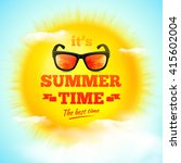 it's summer time typographic... | Shutterstock .eps vector #415602004