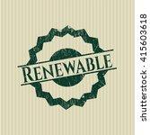 renewable rubber grunge stamp | Shutterstock .eps vector #415603618