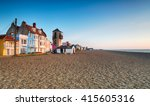 the seafront and beach at... | Shutterstock . vector #415605316