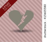 broken heart high quality icon | Shutterstock .eps vector #415605580