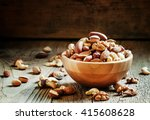 Nuts Set In Bowl Almonds ...