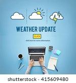 weather update prediction... | Shutterstock . vector #415609480