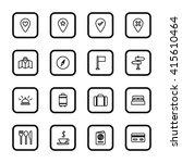 black line travel icon set with ...
