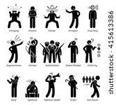 negative bad personalities... | Shutterstock .eps vector #415613386