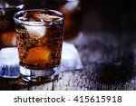 alcoholic cocktail bourbon cola ... | Shutterstock . vector #415615918