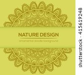 vector nature decor for your... | Shutterstock .eps vector #415619248