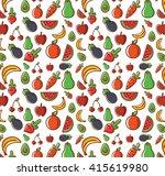 pattern fruits | Shutterstock .eps vector #415619980