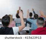 senior teacher teaching lessons ...   Shutterstock . vector #415623913