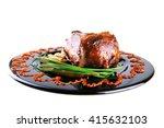 roast red beef meat bbq bloc... | Shutterstock . vector #415632103