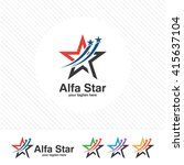 abstract star logo template.... | Shutterstock .eps vector #415637104