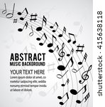 music notes on a solide white... | Shutterstock .eps vector #415638118